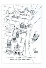 NOLA Pen&Ink Map Postcards