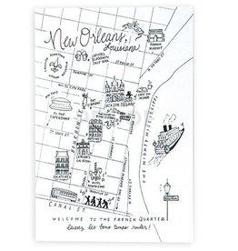 NOLA Pen&Ink Map Postcards