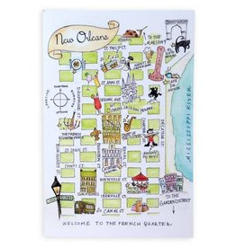NOLA Watercolor Map Postcards