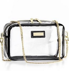 Astor Crossbody-Clear/Black
