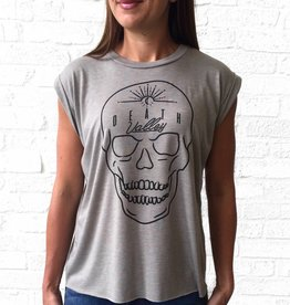 Lauren Schnell Death Valley Skull Cuffed Tee