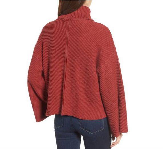 Brick Turtleneck Sweater