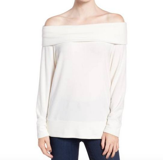 Ivory Cowl Neck Top