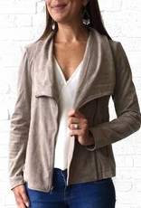 Taupe Suede Moto Jacket