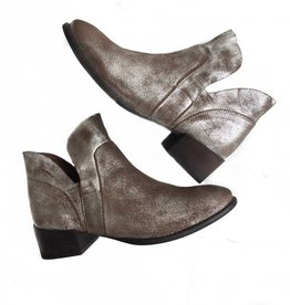 Pewter Metallic Ankle Bootie