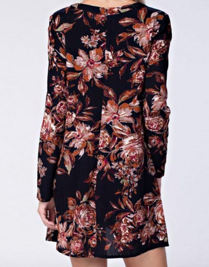 Dark Floral L/S Romper