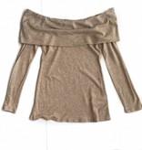 Camel Foldover Sweater