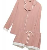 Cosabella L/S Top & Boxer Pajama Set