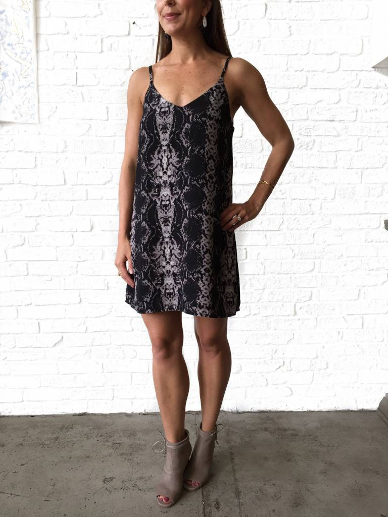 SAY Snakeskin Strappy Tank Dress