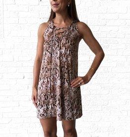 SAY Lace Up Snake Tank Dress