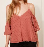 Brick Sheer Textured Cold Shldr Top