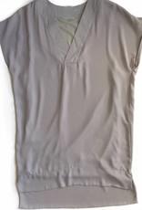 Grey S/S V-Neck Dress