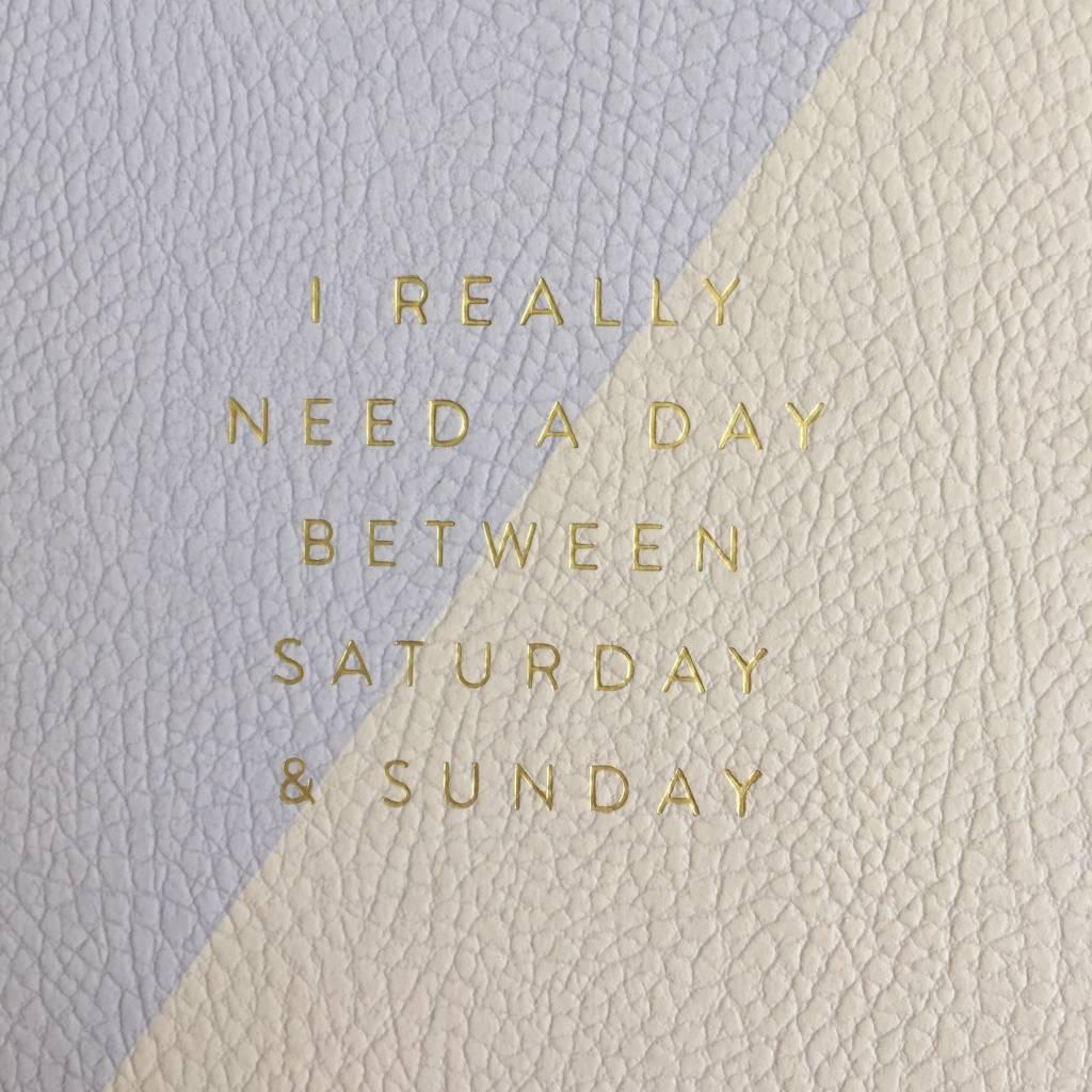 Saturday & Sunday Notepad