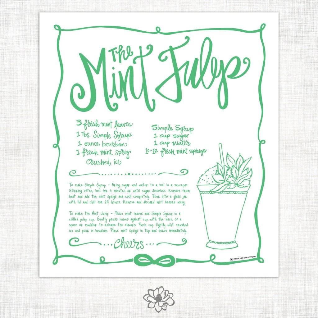 Magnolia Creative Mint Julep Kitchen Towel