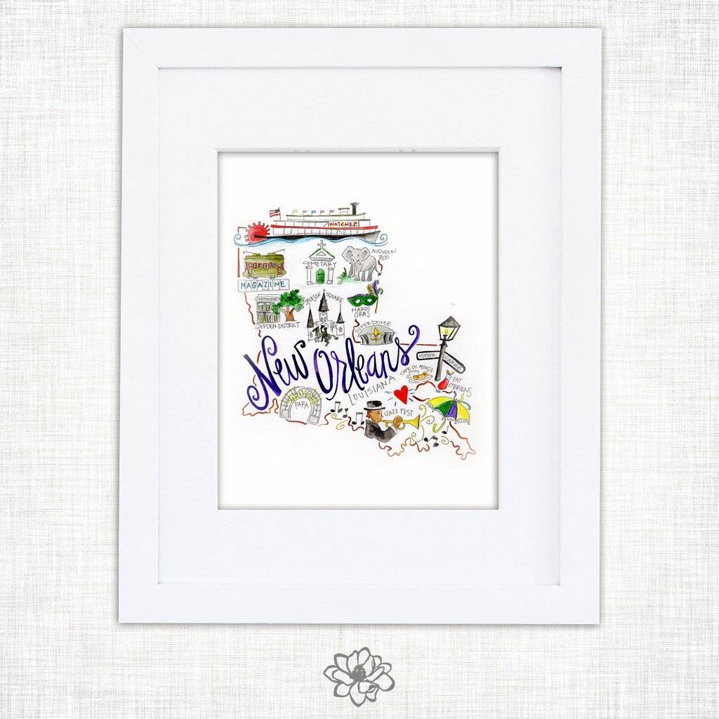 8x10 New Orleans Watercolor Print