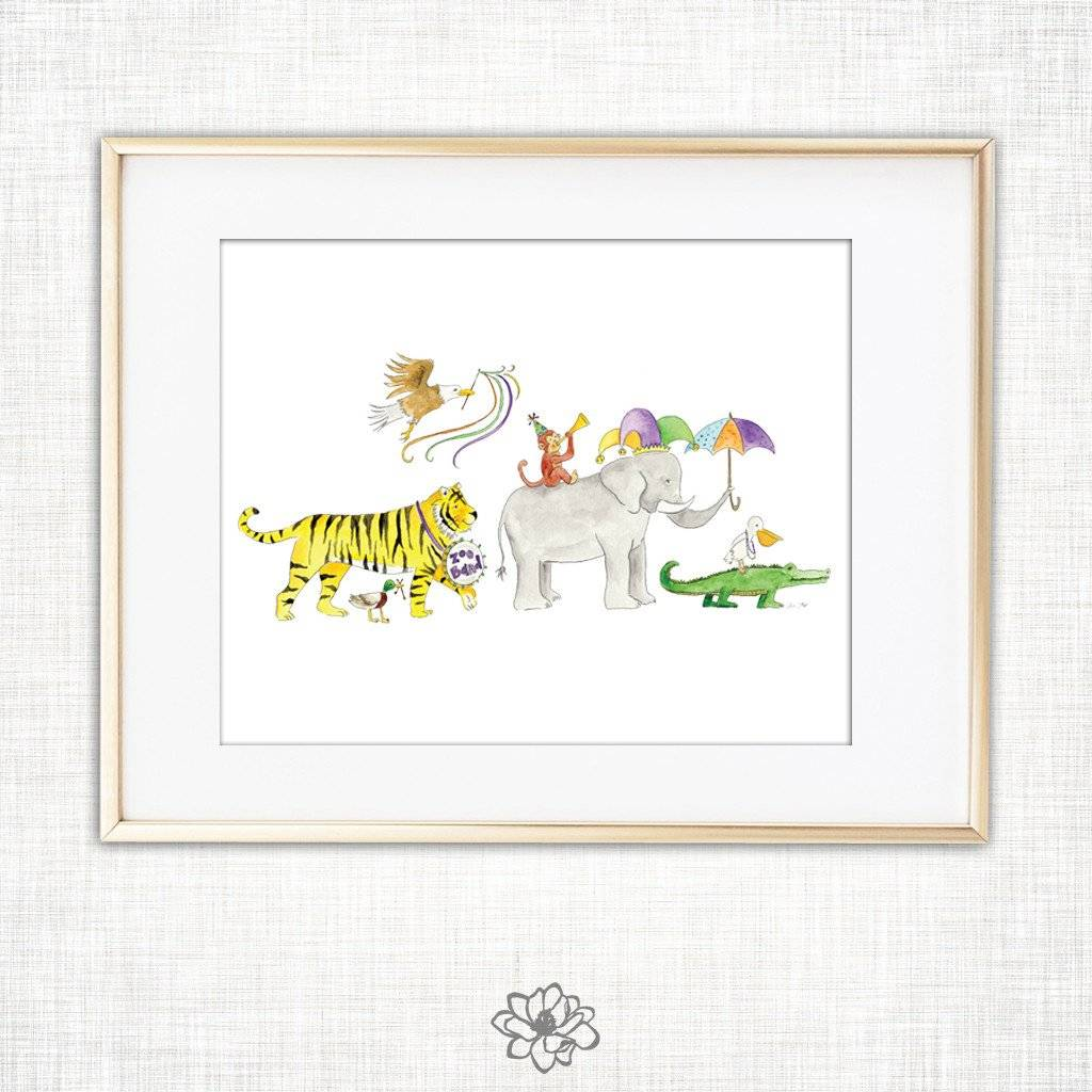 8x10 Zoo Band Art Print