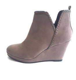 Taupe Braided Suede Bootie