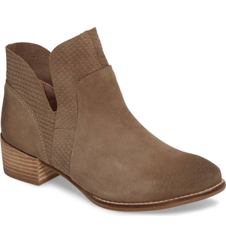 Taupe Scaled Ankle Bootie