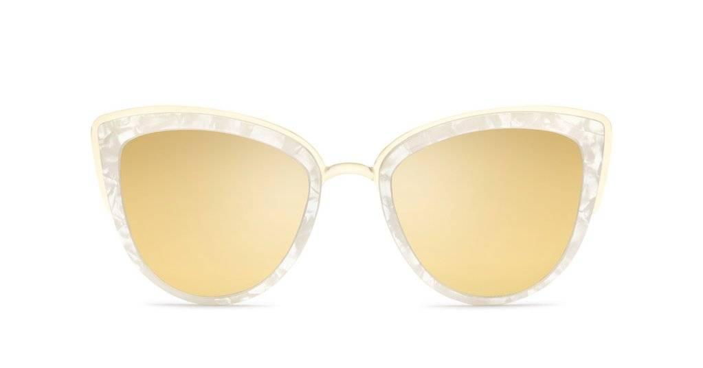My Girl Pearl/Gold Mirror Sunglasses