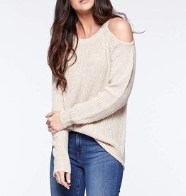 Tan Cold Shldr Sweater