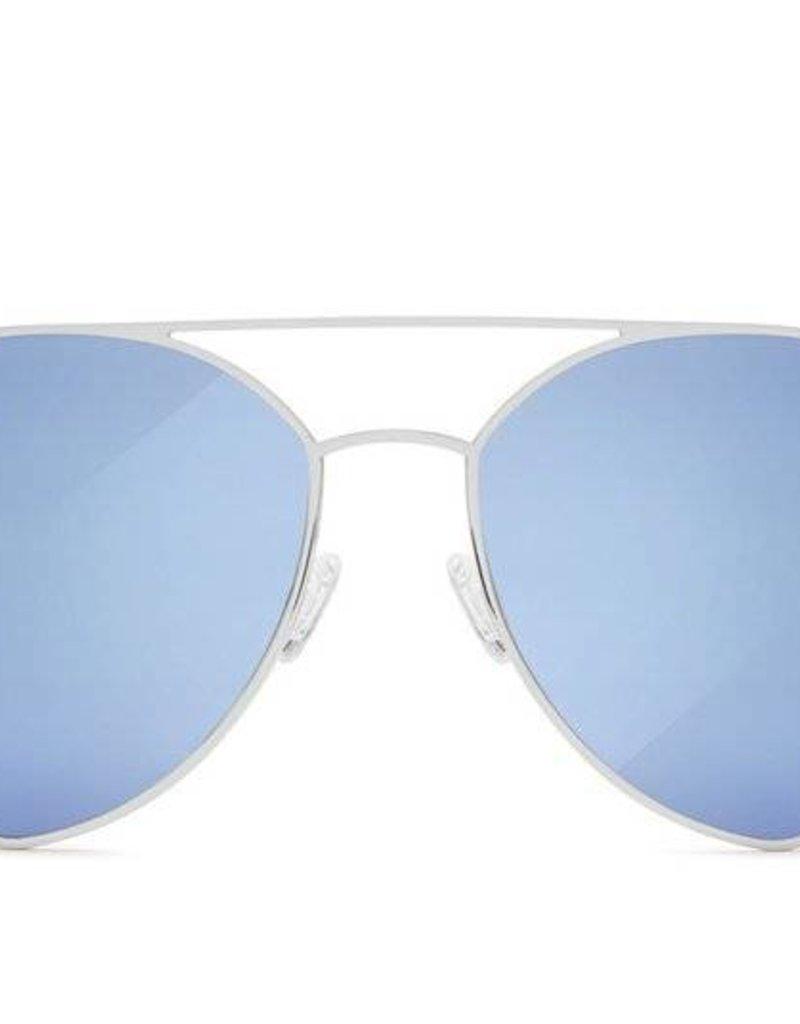 Indio Silver/Blue Mirror Sunglasses