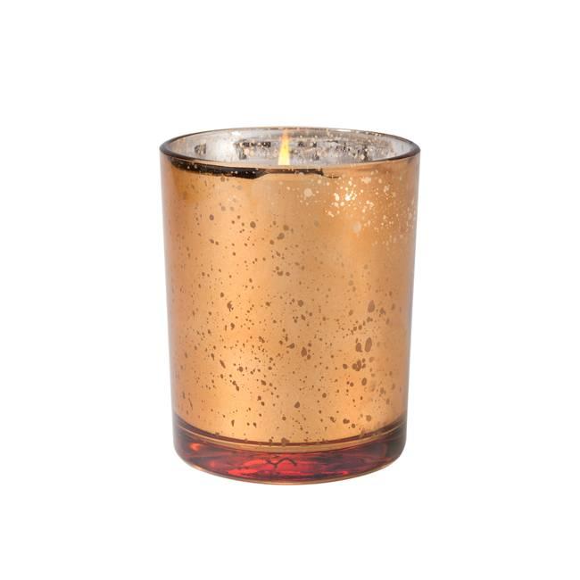 Bourbon & Brgmt Metallic Candle
