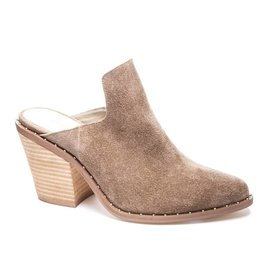 Chinese Laundry Mink Suede Studded Mules
