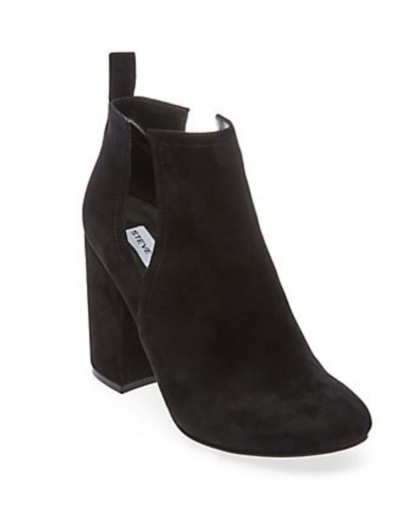 Black Suede Side Slit Bootie
