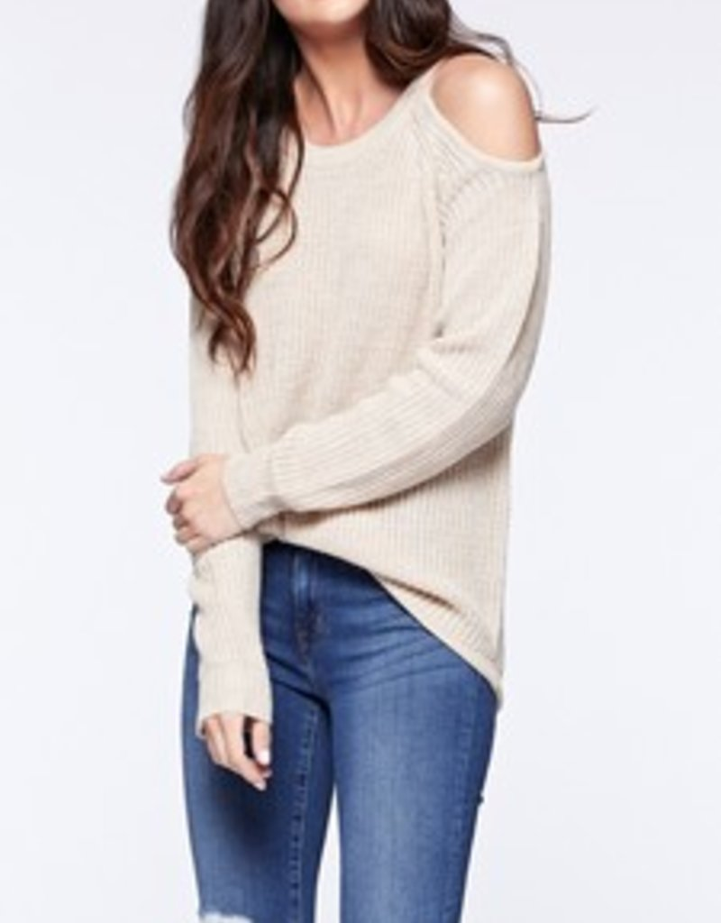 Bare Shoulder Sweater Pearl