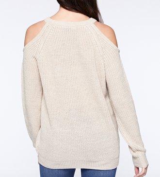 Bare Shoulder Sweater Pearl