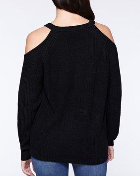 Bare Shoulder Sweater Black