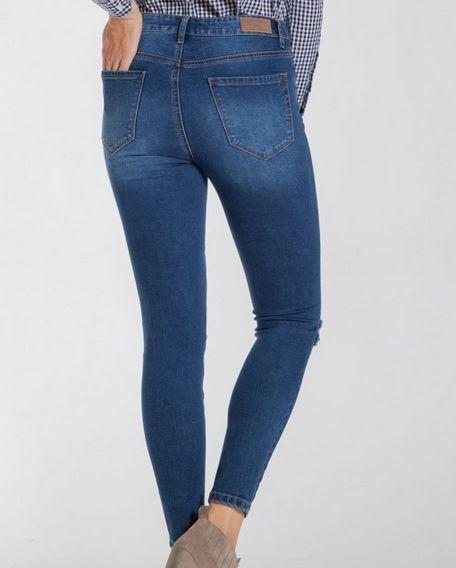 Hallie Button Down Distressed Jeans