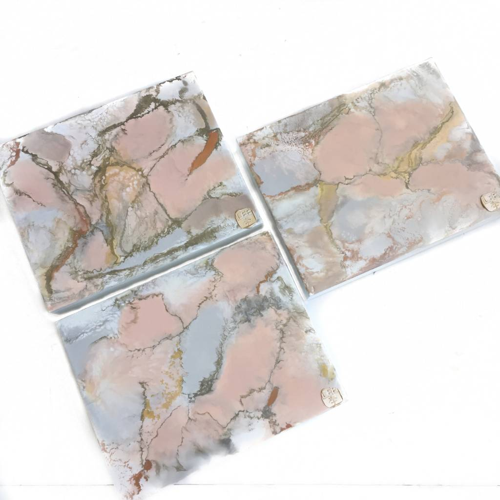 8x10 Encaustic Art-Blush