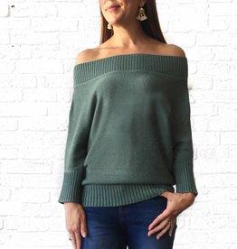 Sage 3/4 Slv Boatneck Sweater