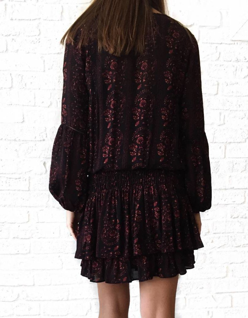 Black/Wine Floral Dress