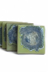 Geode Crackle Coasters