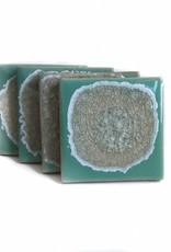 Geode Crackle Coasters