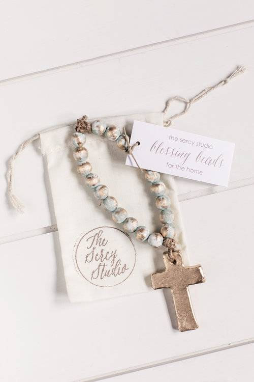 Turq Bitty Blessing Beads