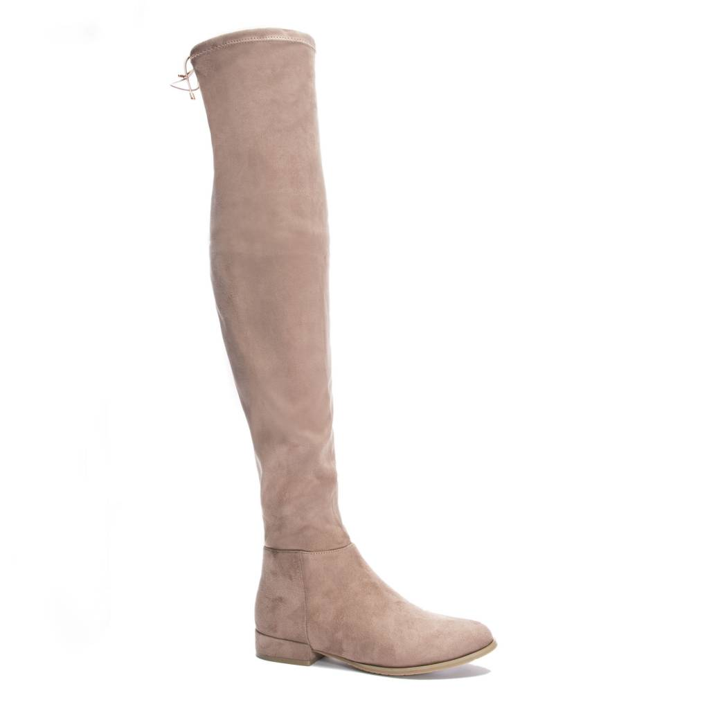 Tan Thigh-High Boot