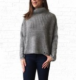Grey Boxy Crop Sweater