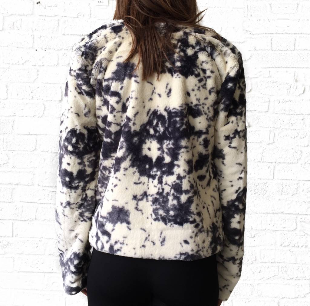 Marbled Fur Jacket