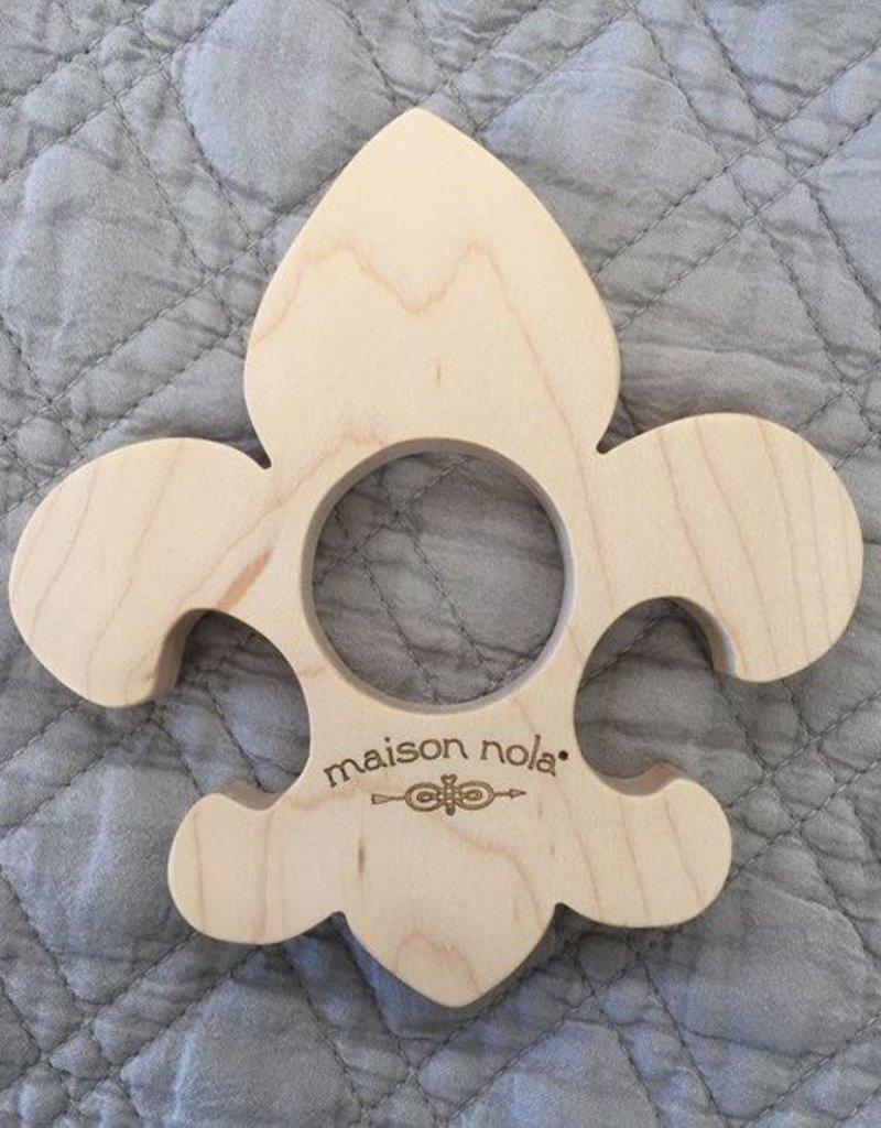 Wooden Fleur de Lis Teether