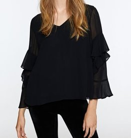 Black V neck Bianca Top