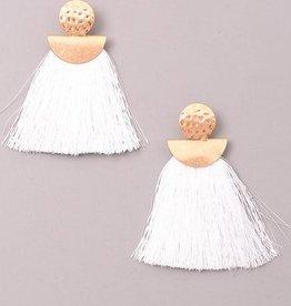 Gld Post Fringe Earrings