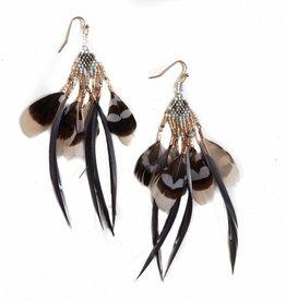 Multi Feather Earrings