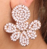 Pearl-Beaded Post Earring