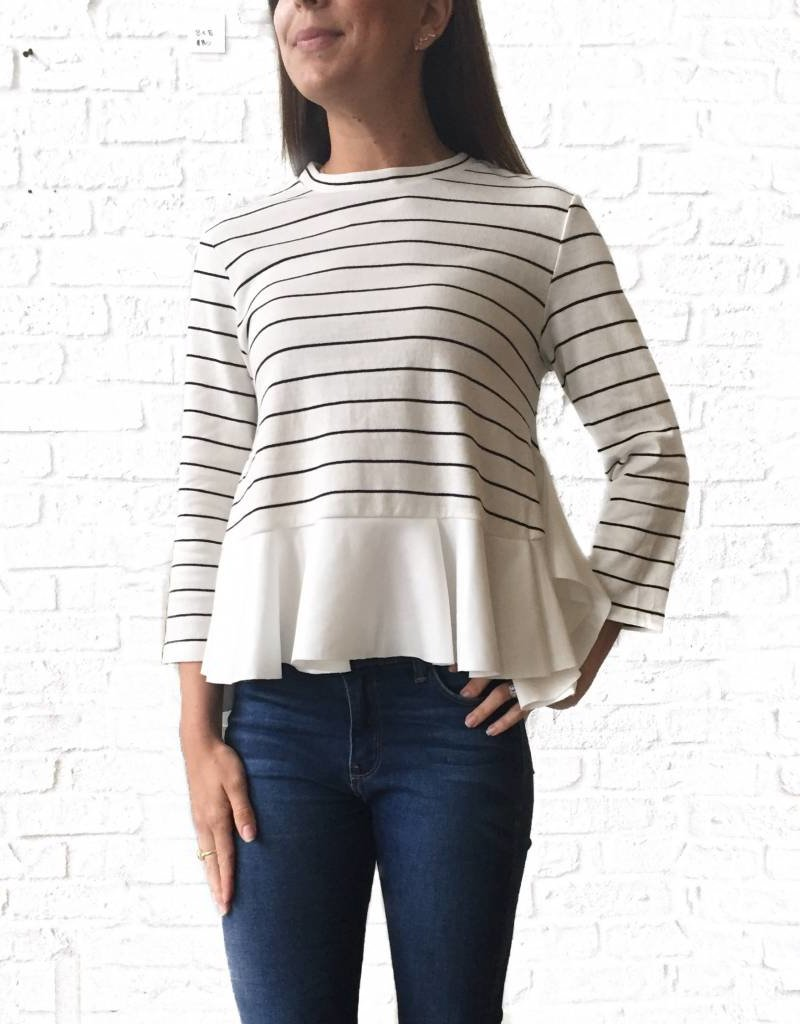Stripe Peplum Top