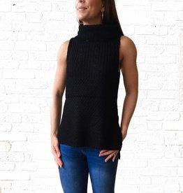 Black Sleeveless Sweater