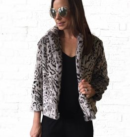 Snow Leopard Fur Jacket