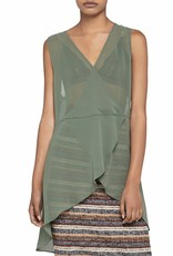 Olive Surplice Tunic Top